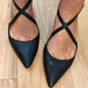 Louise et Cie Black Leather Pumps